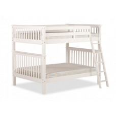 4FT MALVERN BUNK BED (WHITE)