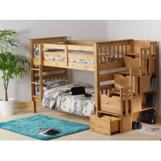 3FT STAIRCASE BUNK BED (WAXED)