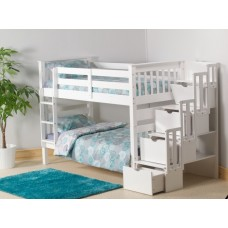 3FT STAIRCASE BUNK BED (WHITE)