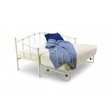 2FT6 PARIS WHITE DAY BED WITH UNDERBED