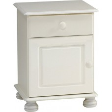 RICHMOND 1 DOOR BEDSIDE WHITE