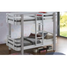 3FT SWEET DREAMS TRENDY WHITE & GREY BUNK BED