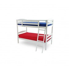 3FT WHITE WOODEN BUNK BED