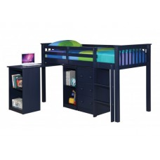 MILO SLEEP STATION IN SOLID NAVY BLUE