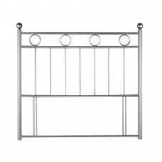 4FT6 LONDON HEADBOARD IN SILVER & CHROME