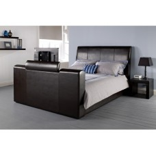 4FT6 LPD MANHATTAN TV BED IN BROWN
