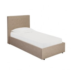 3FT LPD LUCCA BEIGE FABRIC BED FRAME