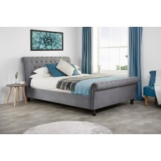 6FT BIRLEA OPULENCE GREY FABRIC BED FRAME