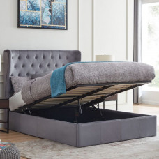 4FT6 FLINTSHIRE HOLWAY WINGED OTTOMAN IN GREY