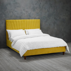 4FT6 LPD LEXIE BED FRAME IN MUSTARD