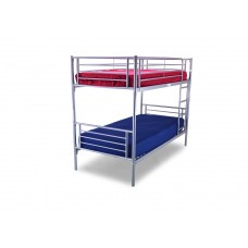 3FT SILVER METAL BUNK BED